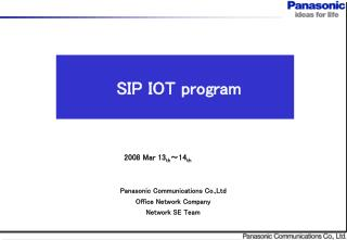 SIP IOT program