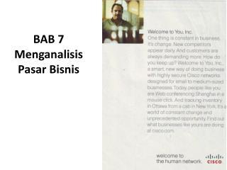 BAB 7 Menganalisis Pasar Bisnis