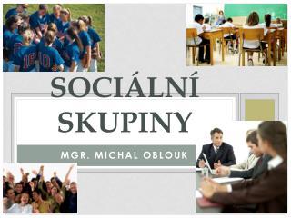 SOCIÁLNÍ SKUPINY
