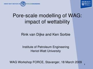Pore-scale modelling of WAG: impact of wettability