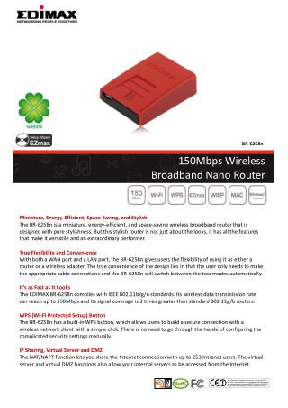 150Mbps Wireless Broadband Nano Router