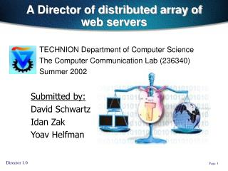 A Director of distributed array of web servers
