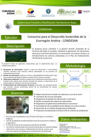 Gobernanza Forestal y Planificación Territorial en Napo
