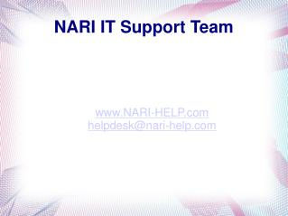 NARI IT Support Team