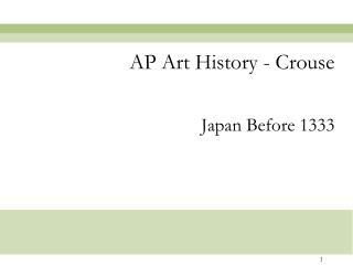 AP Art History - Crouse