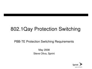 802.1Qay Protection Switching