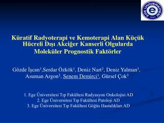 Küratif Radyoterapi ve Kemoterapi Alan Küçük Hücreli Dışı Akciğer Kanserli Olgularda