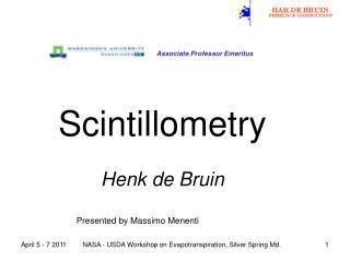 Scintillometry Henk de Bruin