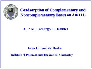 Coadsorption of Complementary and           Noncomplementary Bases  on Au(111)