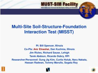 Multi-Site Soil-Structure-Foundation  Interaction Test (MISST)