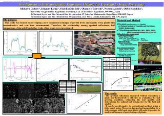 Material and Method ☆Tea plants ( camellia sinensis  L. cv. Yabukita )