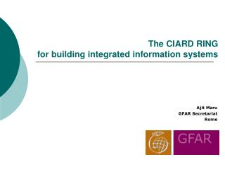 The CIARD RING  for building integrated information systems