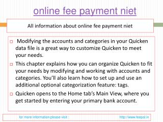Easy tips of niet online payment
