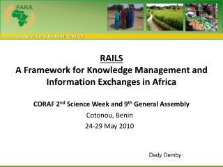 Cotonou , Benin 24-29 May 2010