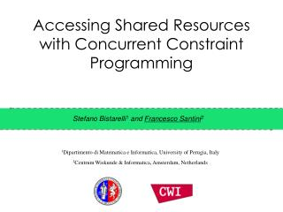 Accessing  Shared Resources with Concurrent Constraint Programming