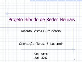 Projeto Híbrido de Redes Neurais