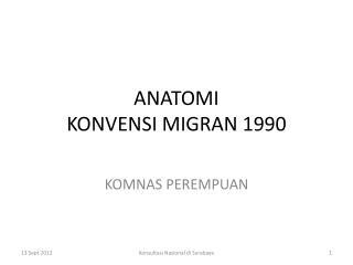 ANATOMI  KONVENSI MIGRAN 1990