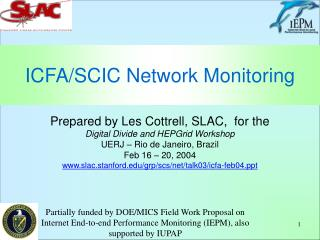 ICFA/SCIC Network Monitoring