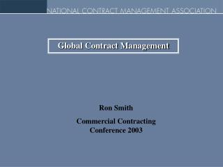 Global Contract Management