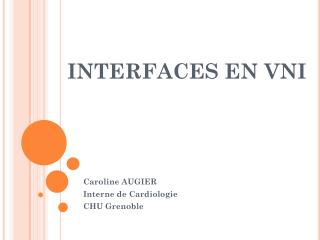 INTERFACES EN VNI