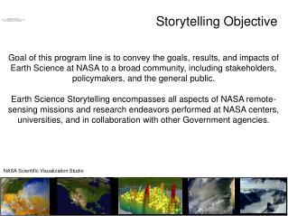 Storytelling Objective