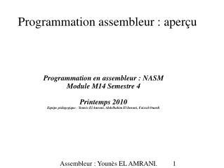 Programmation assembleur : aperçu