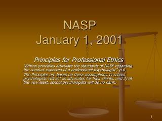 NASP January 1, 2001