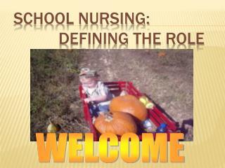 School Nursing:   Defining the Role