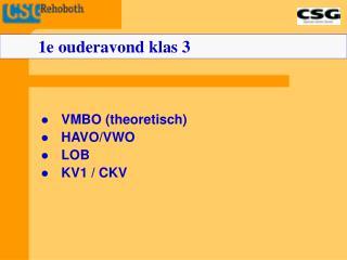 VMBO (theoretisch) HAVO/VWO LOB KV1 / CKV