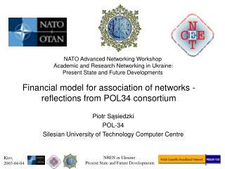 Financial model for association of networks - reflections from POL34 consortium