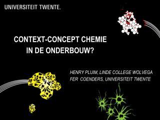 context-concept chemie  in de onderbouw?