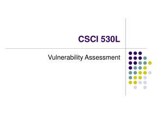 CSCI 530L