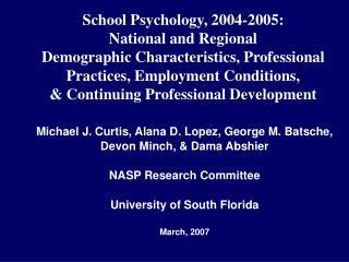 Michael J. Curtis, Alana D. Lopez, George M. Batsche, Devon Minch, & Dama Abshier