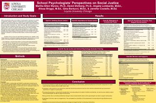 School Psychologists' Perspectives on Social Justice