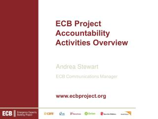ECB Project Accountability Activities Overview