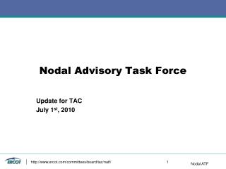 Nodal Advisory Task Force