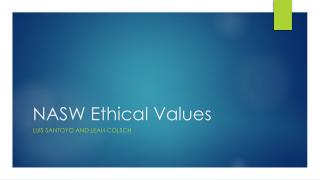 NASW Ethical Values