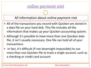 The Significance of online payment niet
