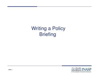 Writing a Policy Briefing