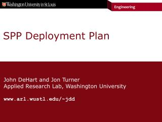 SPP Deployment Plan