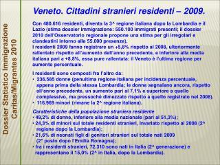 Dossier Statistico Immigrazione Caritas/Migrantes 2010