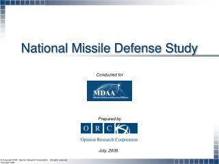 National Missile Defense Study