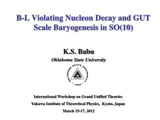 B-L Violating Nucleon Decay and GUT Scale  Baryogenesis  in SO(10)