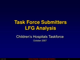 Task Force Submitters  LFG Analysis