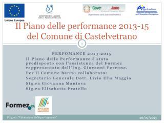 Il Piano delle performance 2013-15 del Comune di Castelvetrano