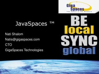 JavaSpaces ™