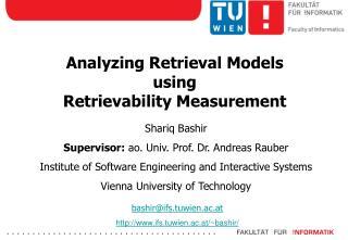 Analyzing Retrieval Models  using  Retrievability Measurement