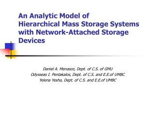 An Analytic Model of  Hierarchical Mass Storage Systems with Network-Attached Storage Devices
