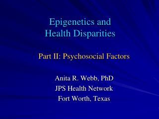Epigenetics and    Health Disparities
