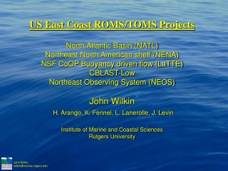 North Atlantic Climatological heat/freshwater fluxes 3-day average NCEP winds